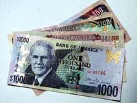 Jamaican 1000 dollar bill